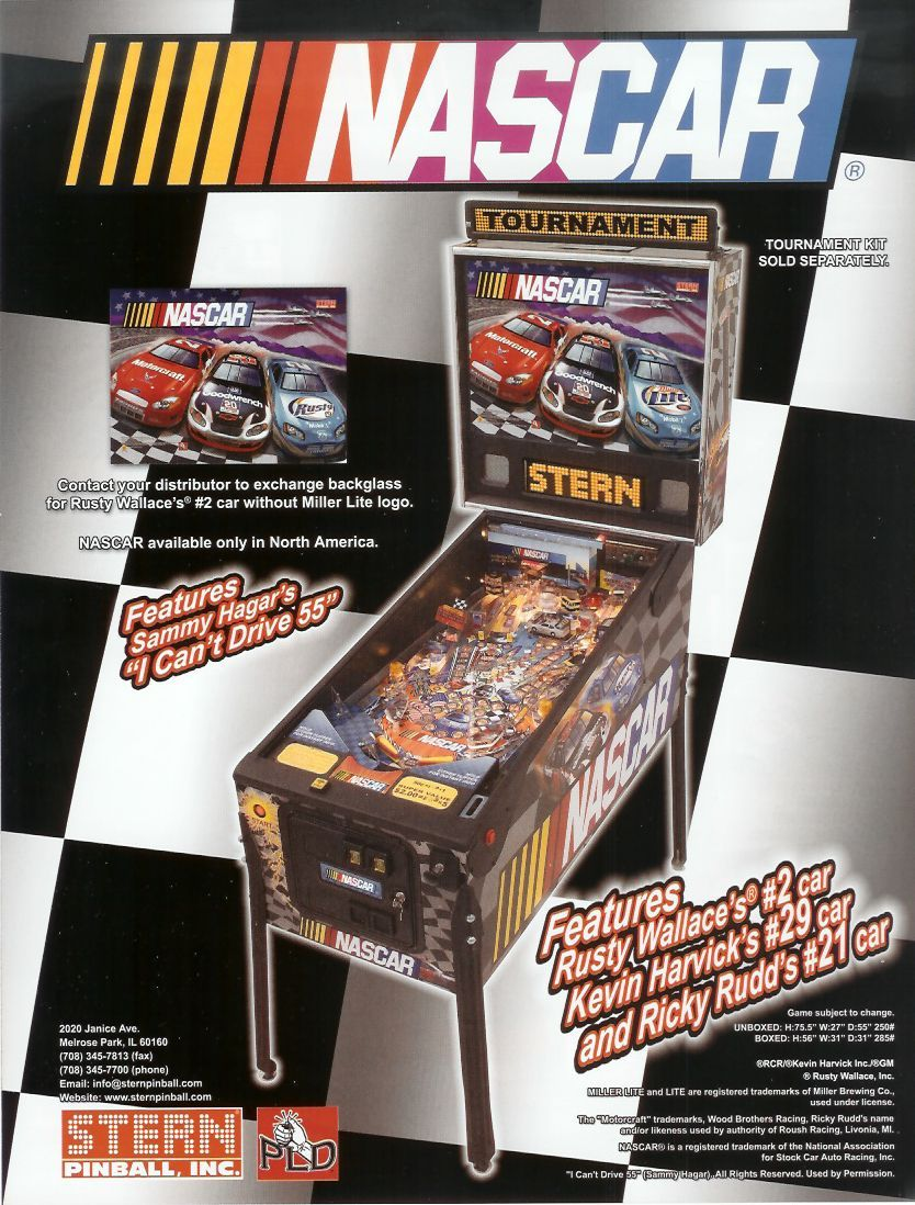 NASCAR Pinball Machine for Sale