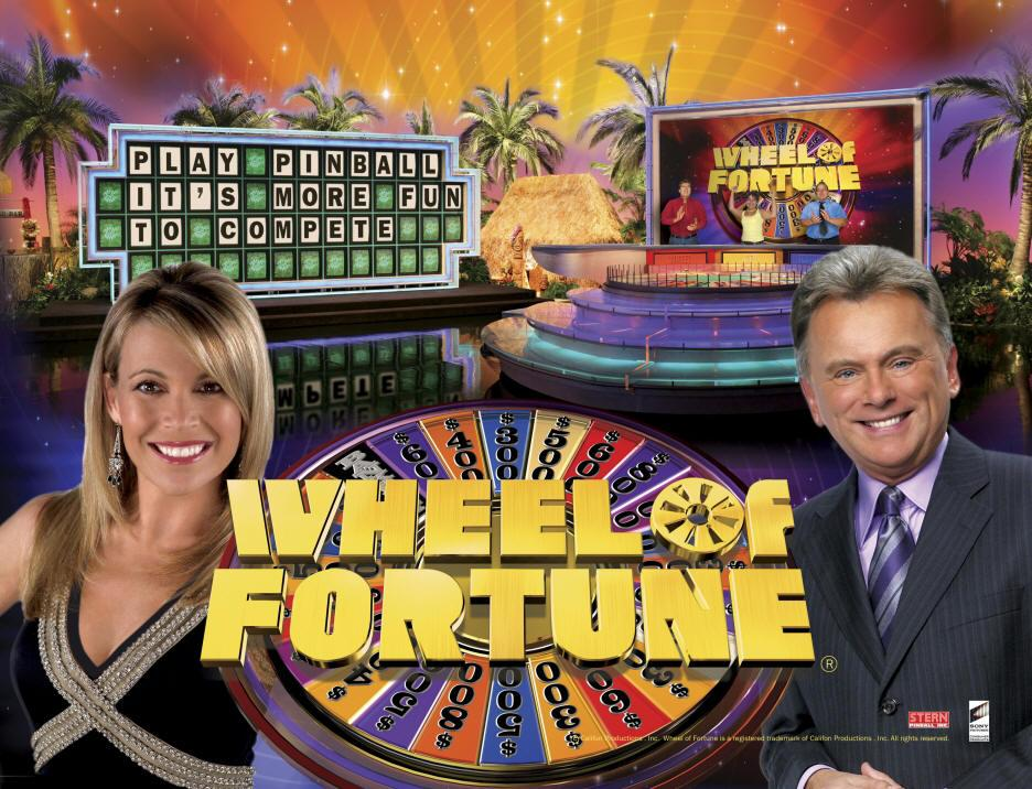Wheel of Fortune Pinball Backglass